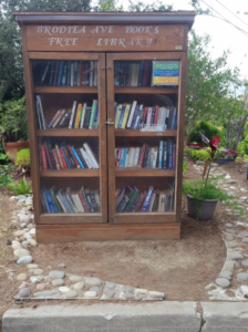 """The Brodiea Ave. Books Free Library"" is little and lovely!"