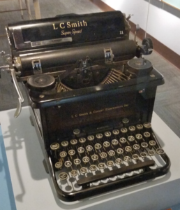 Author Eleanor Roosevelt's prolific typewriter
