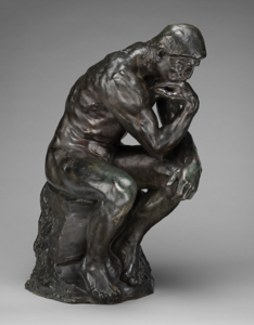 """The Thinker"" in bronze by Rodin"